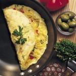 ไข่เจียวฝรั่งใส่เห็ดและชีส