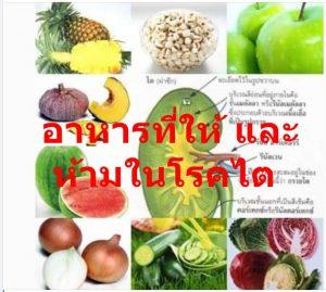 อาหารที่ให้ และ ห้ามในโรคไต